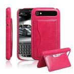 スマートフォン アクセサリー ケース ワレット式 Ultra Slim Flip Bracket Cover Case for BlackBerry Classic - Premium Soft PU Leather [ Wallet ] Case