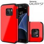 スマートフォン アクセサリー ケース ケース  Galaxy S7 Case, Celljoy [Liquid Armor] {Red} Samsung G930 2016 Release Model Slim Fit Dual Layer