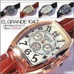 古董手表 - ポイント10倍 (定形外郵便配送可能/3個まで) 腕時計 メンズ 格安 ビックフェイス メンズ腕時計 クロノグラフ フランク好きに 父の日 送料無料