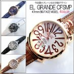 古董手表 - ポイント10倍 (定形外郵便配送可能/3個まで) 腕時計 メンズ 格安 トップリューズ式 ビッグフェイス プレーンタイプ47mm 送料無料