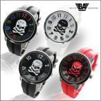 送料無料 腕時計 メンズ 格安  テンデンス好きに 立体ベゼル&ラバーベルト スカルドクロフェイス メンズ腕時計 レディース腕時計