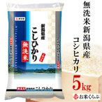 米 5kg 送料無料 白米 令和元年産 無洗米 新潟県産コシヒカリ  御中元 熨斗承ります