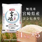【のし承ります】 新米 お米 20kg 送料無料 29年産 無洗米 宮崎県産 こしひかり 20kg(4kg×5袋)