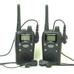 インカム 中継通話対応/特定小電力トランシーバー(インカム)47chが超お得な2台セット(イヤホンマイク付)(送料無料)