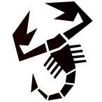 アバルト(スコーピオン)切り抜きステッカー (X-Large=ボンネット用サイズ)