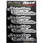 アバルト Assetto Corseロゴアルミ調ステッカー