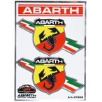 アバルト純正フラッシュエンブレムステッカー(2枚セット)-21503-