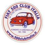 フィアット FIAT 500 CLUB ITALIAステッカー(裏貼りタイプ)
