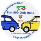 フィアット FIAT 500 CLUB ITALIA 2013ステッカー(裏貼りタイプ)