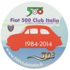 フィアット FIAT 500 CLUB ITALIA 2014ステッカー(裏貼りタイプ)