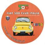 フィアット FIAT 500 CLUB ITALIA 2015ステッカー(裏貼りタイプ)
