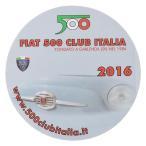 フィアット FIAT 500 CLUB ITALIA 2016ステッカー(裏貼りタイプ)