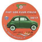 フィアット FIAT 500 CLUB ITALIA 2017ステッカー(裏貼りタイプ)