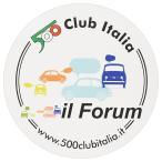 フィアット FIAT 500 CLUB ITALIAステッカー-il Form-