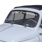 フィアット FIAT 500 CLUB ITALIA FIAT 500 60周年記念ウィンドウステッカー(切文字タイプ)