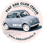 フィアット FIAT 500 CLUB ITALIA 2019ステッカー(裏貼りタイプ)