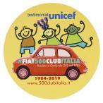 フィアット FIAT 500 CLUB ITALIA UNICEF 2019ステッカー(イエロー)