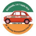 フィアット FIAT 500 CLUB ITALIA 2019ミーティングステッカー