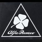 アルファロメオ Quadrifoglio三角ステッカー(クリアベース)