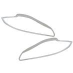 RI-JR822-01 ヘッドライト用 クロームメッキランプトリム Jaguar ジャガーXJ X351系 (2010以降) ガーニッシュ カバー (