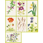 ショッピングクリスマスローズ ポストカード7種セット「花のちぎり絵」