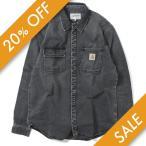 CARHARTT WIP カーハート ワークインプログレス SALINAC SHIRT JACKET シャツジャケット TO27545-19F BLACK stone washed ブラック ストーンウオッシュ