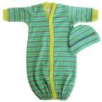 【未熟児】【低出生体重児】【早産児】【NICU】用 ベビー服:長袖ガウン ライム 帽子付き
