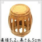 黄花梨 円形樽型台座 5.2cmB