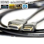HDMI ケーブル HDMI -ミニHDMI端子 キヤノン HTC-100互換品 1.4規格対応 1.5m ・金メッキ端子 (イーサネット対応・Type-C・mini)  送料無料【メール便の場合
