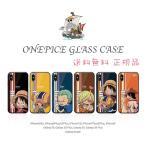 ONE PIECE ワンピース 強化ガラス iPhoneケース 送料無料 正規品 iPhone8 iPhoneX iPhone7 iPhone6s  Galaxy S9 S8 Plus 携帯カバー スマホ 耐衝撃 おしゃれ