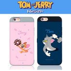 【送料無料 / 正規品】トムとジェリー iPhoneケース カード 携帯カバー 収納 ダブル バンパー ケース シーズン4 トム ジェリー スパイク アイフォーン10ケース