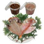 ピリ辛漬けと生漬け+干物金目鯛2枚【塩辛しおから生漬け・ピリ辛漬け各280g干物ひものきんめだい】