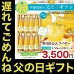 父の日 ギフト プレゼント みかん サイダー オレンジ サイダー 200ml 8本 ジュース 果汁50% 微炭酸 送料無料