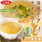 選べるスープ 丸美屋 業務用 洋風スープ オニオン風味 or 中華風スープ あっさり塩仕立て (2.5g×40袋) 100g