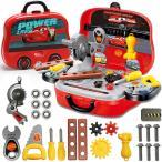 男の子のおもちゃ 知育玩具 おままごと 大工さん なりきりセット 収納BOX付き (大工セット(カーズ)