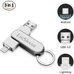 Lio SHAAR iPhone USBメモリ 32gb USBメモリ フラッシュドライブ OTGメモリー 360度回転式 メモリースティック USB