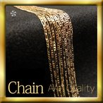 【itsubajewelry】フィガロチェーンネックレス ゴールド18KGF シンプル / プレゼント ギフト 【送料無料】Ch-002