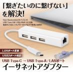 メール便送料無料 メール便送料無料 USB C ハブ type c USB3.1 LAN ポート USB2.0 有線 変換アダプター MacBook Pro Air Mini USB拡張 高速データ転送