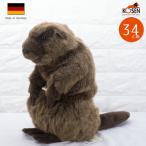 """テディベア ぬいぐるみ ビーバー(大) KOSEN(ケーセン社) 34cm """"Elli"""" Beaver/ぬいぐるみ"""