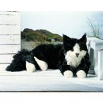ねそべり猫(大)メインクーン 黒  74 cm KOSEN(ケーセン社)Maine Coon Tomcat/ねこ/ぬいぐるみ