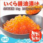 鲑鱼卵, スジコ - いくら醤油漬け 1kg 【200g×5パック】 北海道産 送料無料