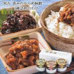 ご飯のお供 お取り寄せ 送料無料 三陸宮古 恵みのからめ味噌 3種詰め合わせ