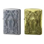 ZIPPO(ジッポー) ライター ディープエッチング アラベスクマリア 真鍮いぶし・63200598