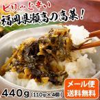 福岡県瀬高たかな漬け 辛子高菜440g 110gx4個 メール便送料無料 MSM