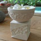 睡蓮鉢 フラワーベース 石彫り 置物 ストーン 彫刻