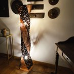 フロアライト フロアスタンド フロアランプ 間接照明 アジアン照明 ランプ 雑貨 バリ バンブー アタ A 150cm