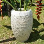 ショッピングプランター プランター 植木鉢 おしゃれ 大型 スタンド 水鉢 お庭 エクステリア用品 ガーデン ガーデニング ストーン 50cm ホワイト