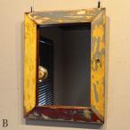 ショッピングバリ バリ 壁掛け 鏡 ウォールミラー おしゃれ 木製 アジアン雑貨 ボートリメイク 40cm