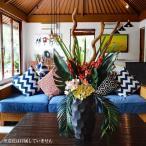 プランター おしゃれ 大型 鉢 植木鉢 室内 フラワーベース 花瓶 花器 バリ アジアン雑貨 インテリア テラゾ ストーン 黒 40cm C