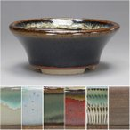(伊予路園) (盆栽鉢)  小石原焼/反り丸小鉢 6色セット(ミニ鉢〜小鉢)
